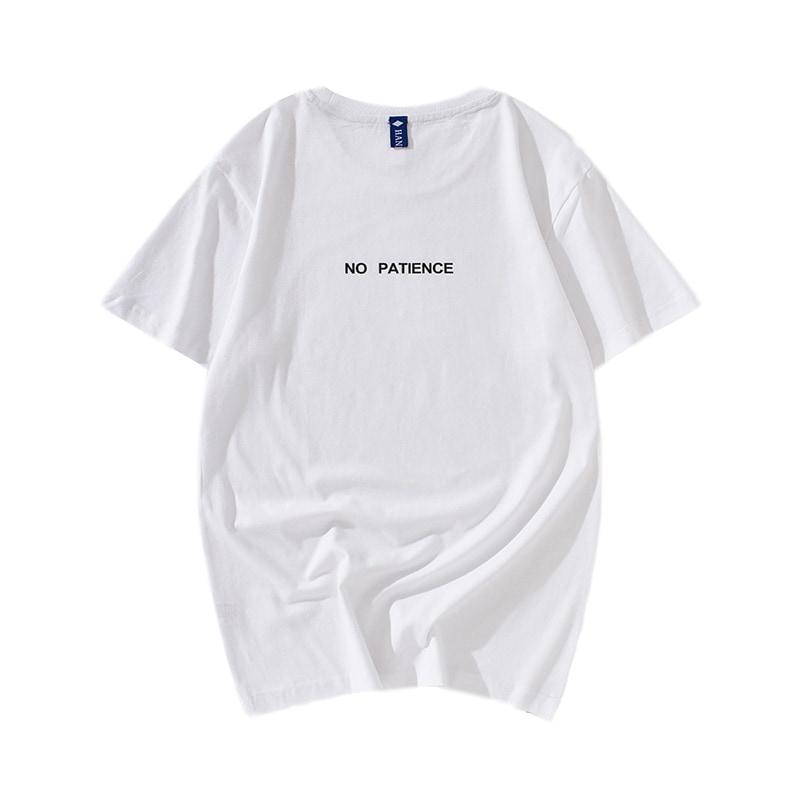 余文乐t恤男潮牌短袖T夏季圆领白色纯棉宽松男装半袖体恤潮流上衣