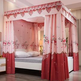 新款遮光床幔床帘蚊帐1.5m一体式卧室防尘布帘1.2米1.8双人床家用
