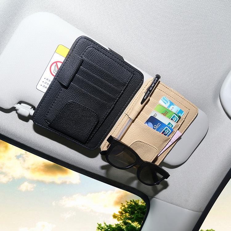 Автомобиль очки клип автомобиль очки полка коробка автомобиль многофункциональный козырька законопроект визитная карточка карта клип хранение клип