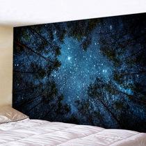 超大挂布墙壁装饰挂毯床头卧室背景布森林星空壁画ins北欧免打孔