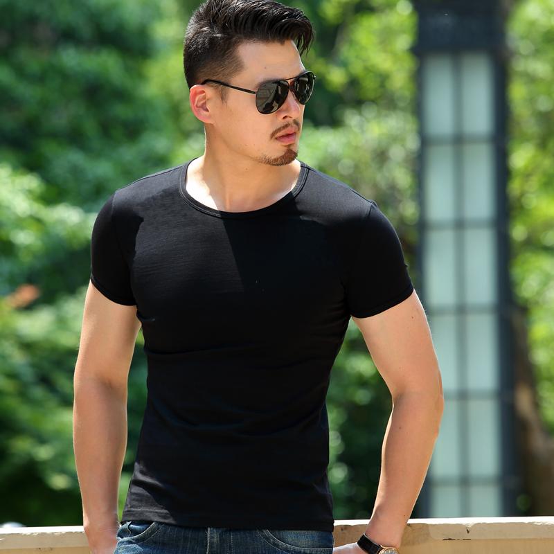精工夏季部队军装男紧身刺绣中国圆V领国旗特种兵短袖T恤军迷户外
