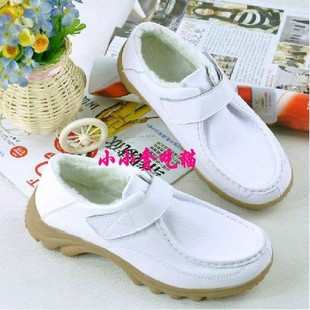 Product new winter shoes leather work shoes black white nurse shoes mother shoes casual shoes leather shoes