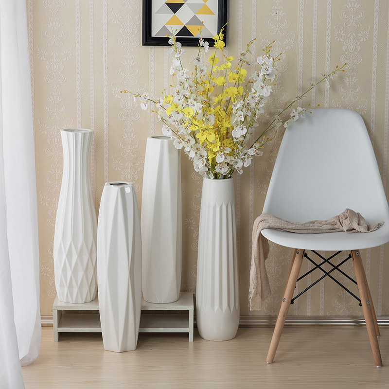 客厅大号60cm高温瓷花瓶落地花瓶
