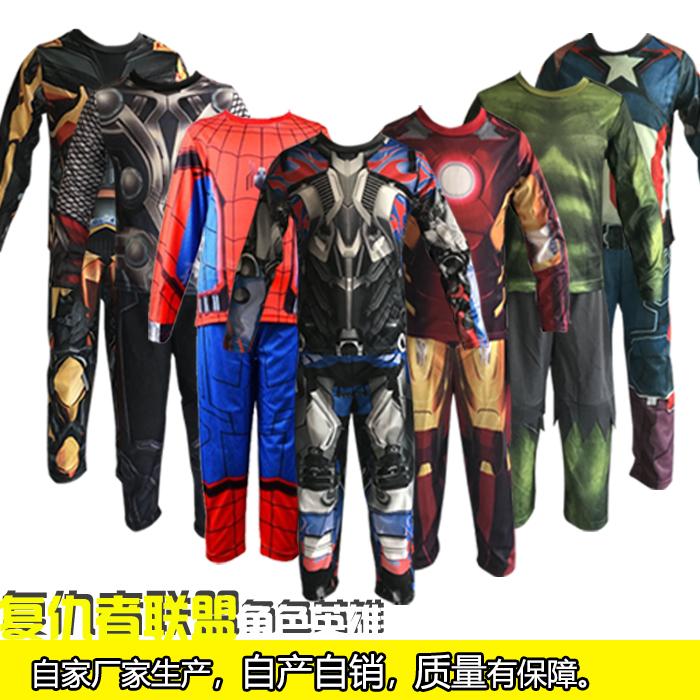 万圣节美国队长星球大战服装儿童蜘蛛侠钢铁侠黑武士白兵表演装扮
