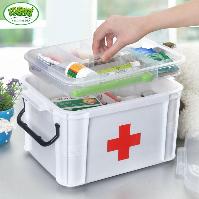 印象樹大號家用醫藥箱急救藥箱多層家庭塑料藥品收納箱兒童小藥箱