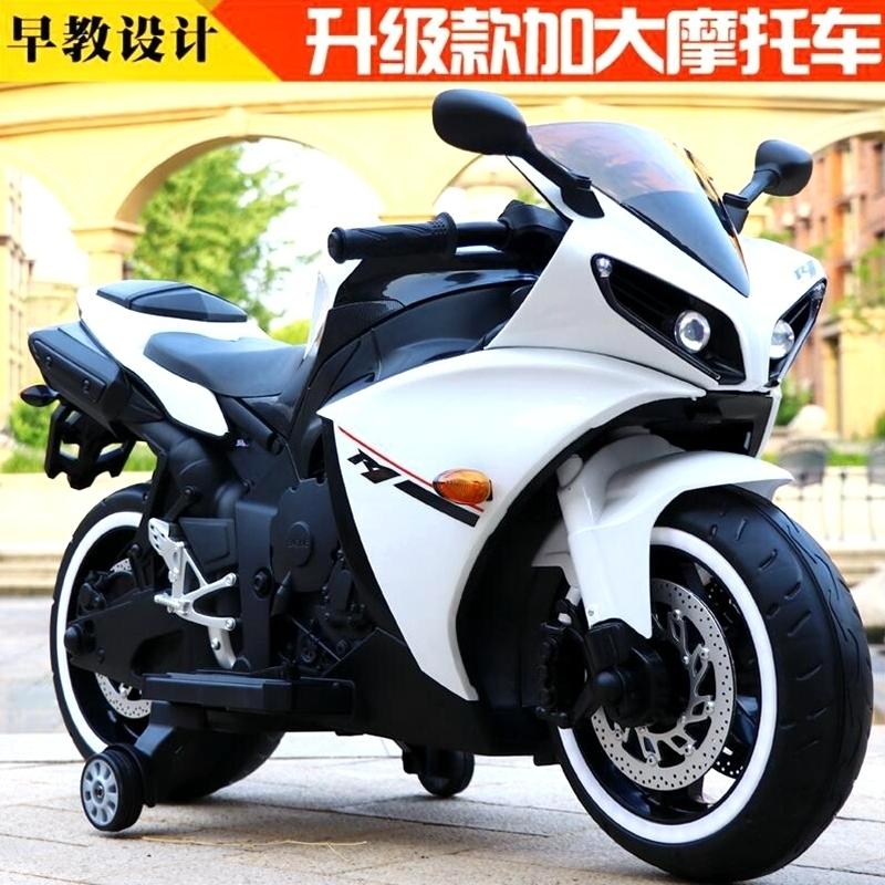 兒童電動摩托車男生超大號小孩可坐兩輪摩托充電玩具車3-6-8-10歲
