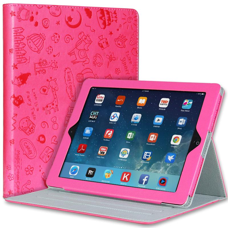 蘋果ipad4保護套全包邊3卡通迷你殼2代平板電腦1休眠超薄支架皮套