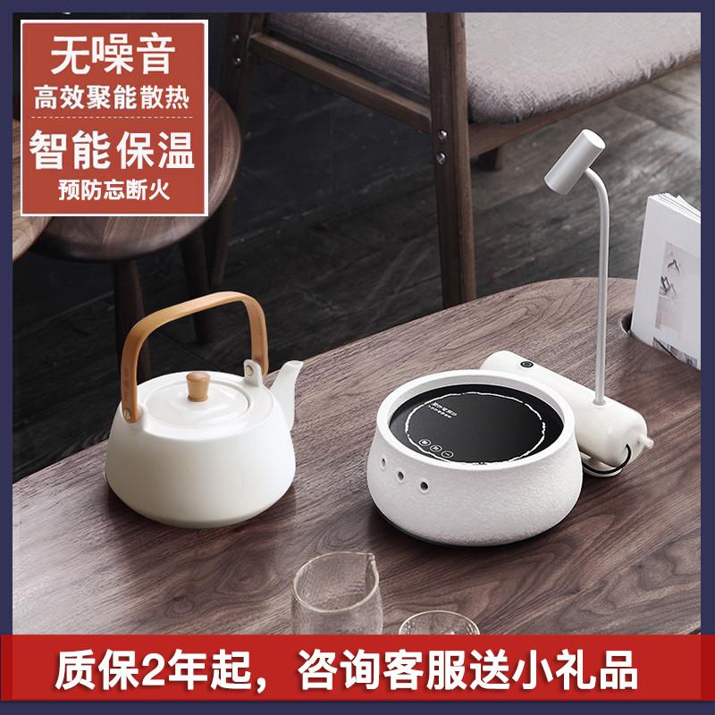 台湾莺歌镇晓浪烧 观卵煮茶器陶瓷烧水壶玻璃煮茶壶电陶炉全自动