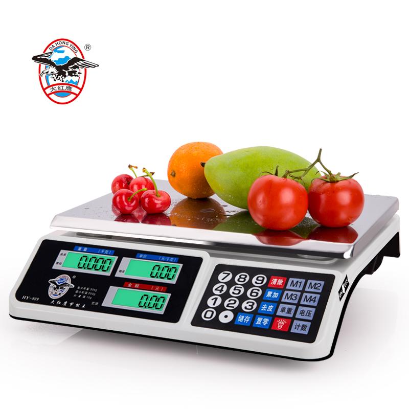 正品大紅鷹稱重電子稱台秤30kg公斤計價稱秤水果包裹稱 台稱包郵