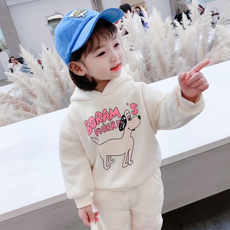 女童秋冬装套装2020新款女宝宝1岁洋气运动卫衣