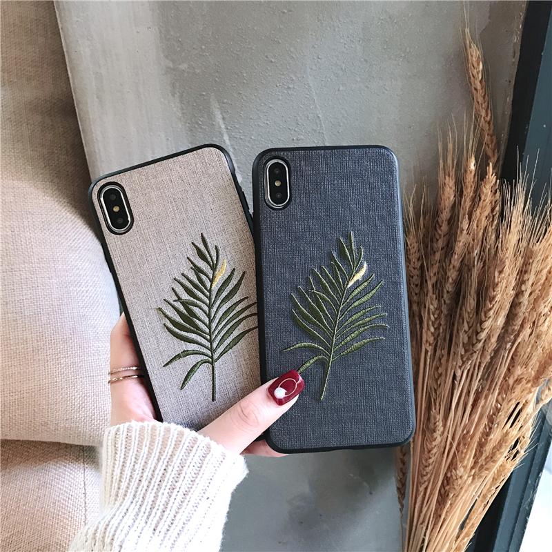 (用22.2元券)刺绣叶子vivox23幻彩版手机壳NEX保护套女款X21S软壳x21i硅胶壳潮