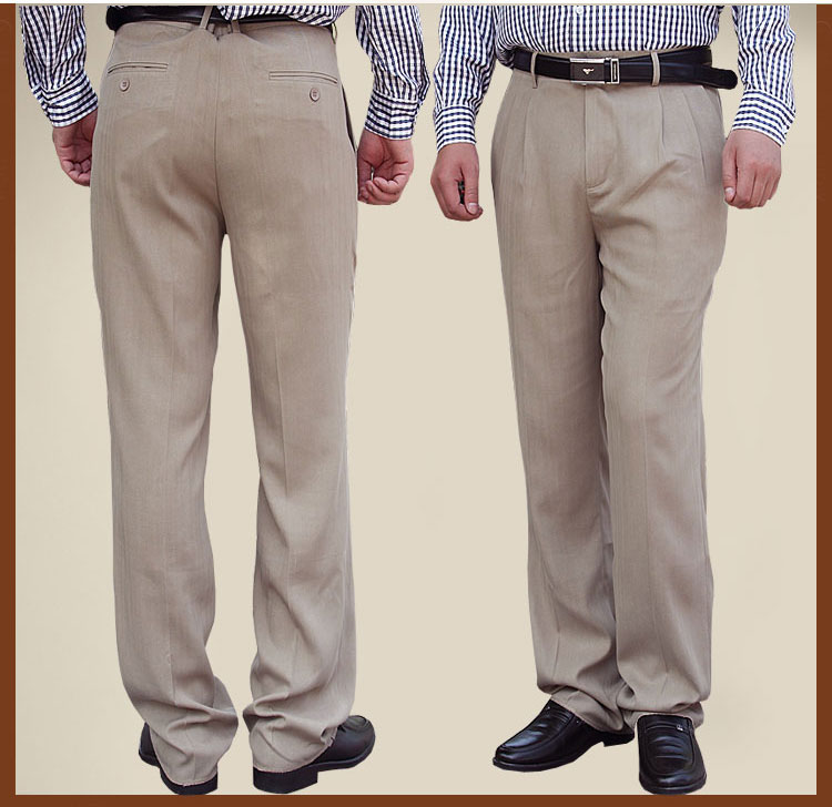 Package post silk mens wear real silk mens trousers summer mulberry silk mens casual silk straight pants