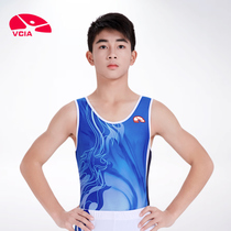 VCIA2018 New Gymnastics Clothing mens gymnastics sportswear dance gymnastics suit top athletic man