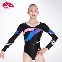 Lee Weika VCIA2018 New Womens conjoined vest gymnastics clothing practice suit connected plastic suit match suit