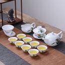 茶具套装 陶瓷功夫茶具茶壶白瓷盖碗茶杯整套青花瓷泡茶器家用 特价