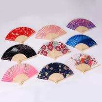 扇子折扇女士古风夏季舞蹈走秀表演小折叠礼品中国风古典日用娟扇