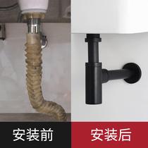 不锈钢弹跳按压式面盆洗手池台盆防臭下水管配件304洗脸盆下水器