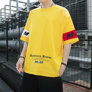 2019夏季男士短袖t恤学生新款潮流休闲五分袖上衣服男 DS430