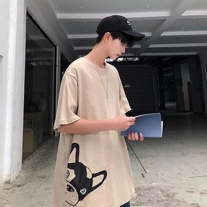 港风蓓 95%棉5%聚酯纤维 夏季圆领半袖T恤男