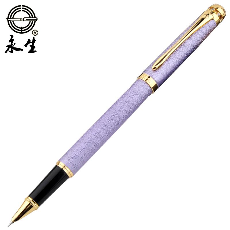 永生鋼筆正品學生用書寫練字辦公 裝女生金屬鋼筆刻字9120包郵
