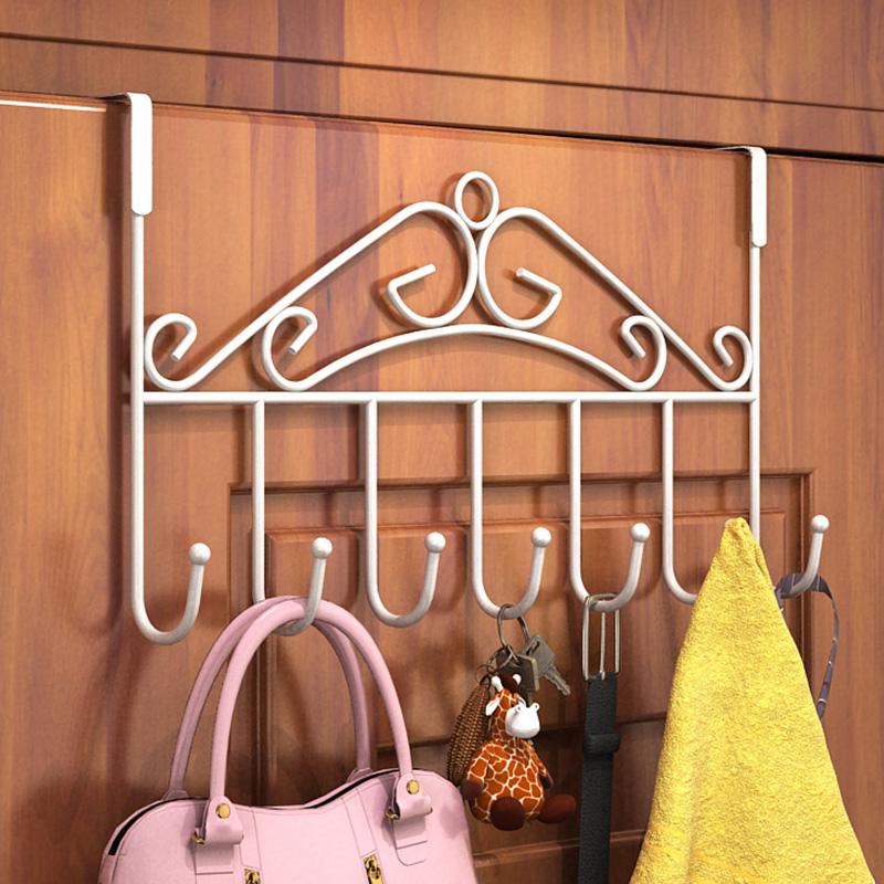 铁艺门后挂钩免钉门上挂衣架置物架