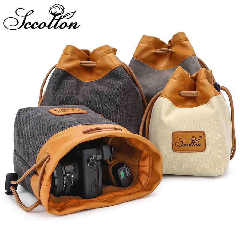 单反相机镜头袋收纳摄影包防水帆布便捷微单数码内胆包相机袋收纳