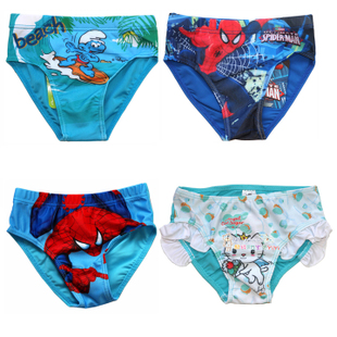 2015 new male and female children baby boys and girls swimming trunks swimsuit triangle swim trunks 1725