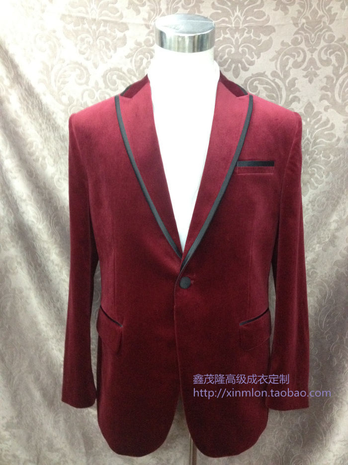 Customized new Korean suit mens casual suit coat velvet suit mens slim suit mens suit