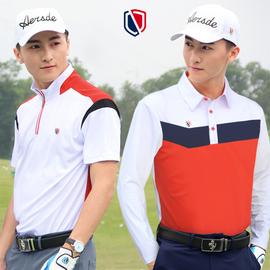 高尔夫服装短袖T恤男装GOLF球衣服男士速干长袖男上衣球服春秋装图片