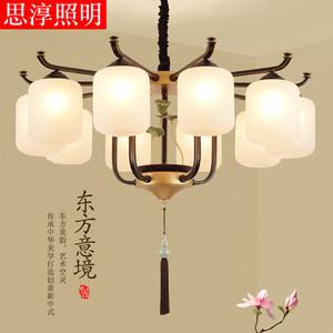 新中式现代中式简约餐厅铁艺客厅灯