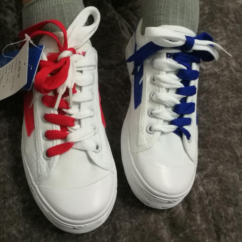 正品回力蓝联名升级版红蓝鸳鸯鞋小白鞋明星款帆布男女鞋黑白鸳鸯