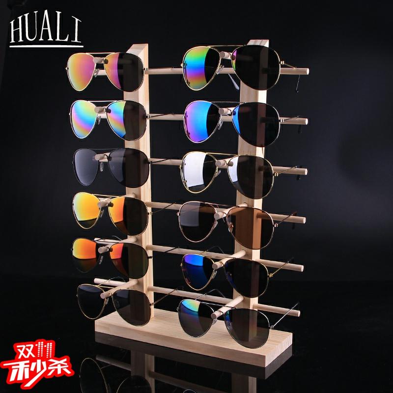 眼镜新款铮舍太阳镜展示架陈列货架落地式创意道具实木质家用收纳