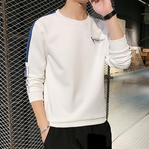 TS1535#长袖t恤男宽松春季韩版潮流学生上衣打底衫内搭圆领卫衣潮ins