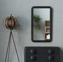 Nordic expression imported British original Reevesdesign button oak wall-mounted mirror dressing mirror