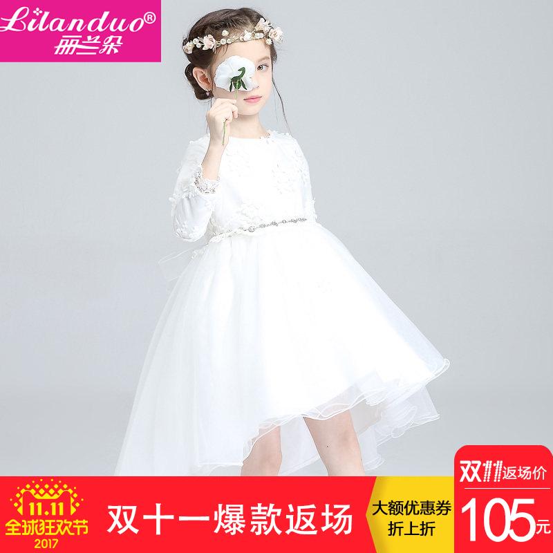 Корея орхидея цветок, бутон девочки белый ласточкин хвост платья цветок ребенок платье платье принцессы юбки продольный мазок ребенок платья свадьба