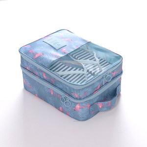 旅行便携式装三双多双鞋子收纳鞋袋可挂可插拉杆行李箱多层收鞋包