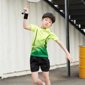 儿童羽毛球服男童2021新款夏网球服