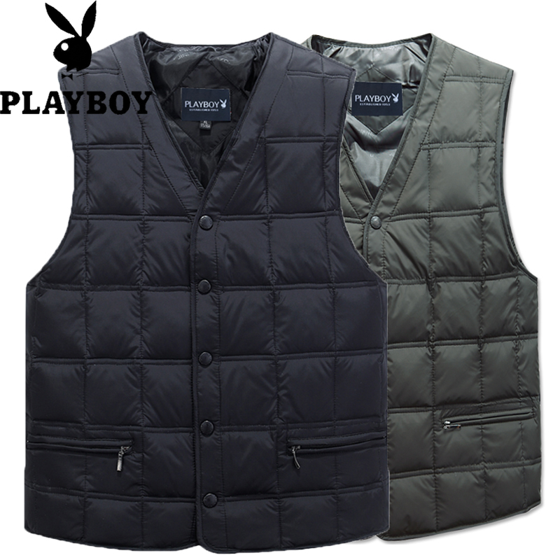 Playboy down vest in winter add down and thicken V-neck shoulder for middle-aged and elderly people