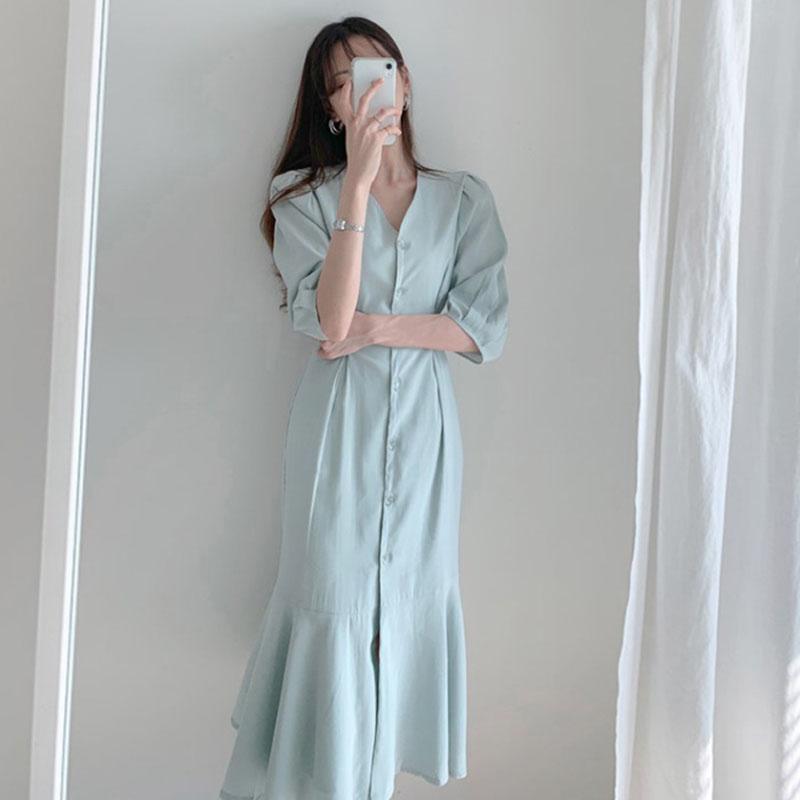 满55.00元可用0.020000000000003元优惠券夏季新款韩国ins气质鱼尾收腰裙子