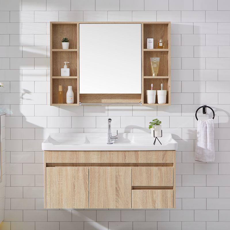 北欧浴室柜组合卫生间洗脸镜柜镜子