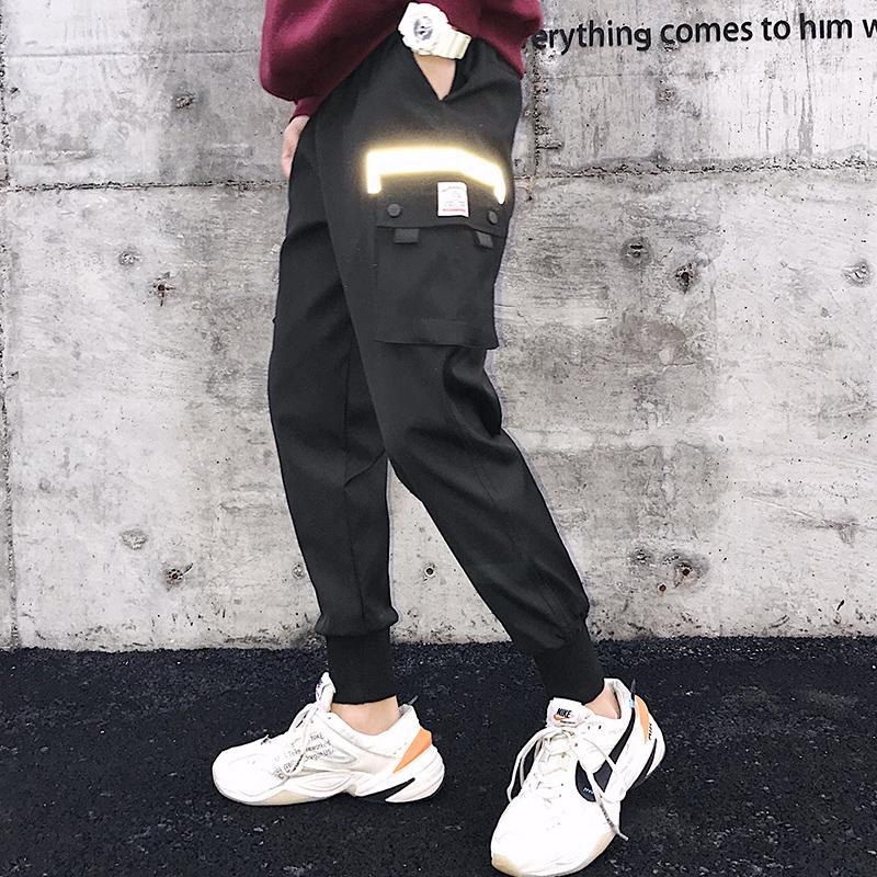 2019港风春季新款男士工装裤潮束脚裤XZ418-1K99P55控69大货已备