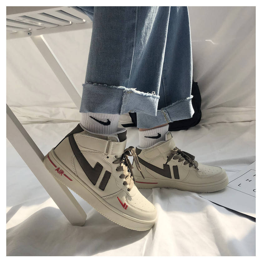 New high top board shoes in spring and summer