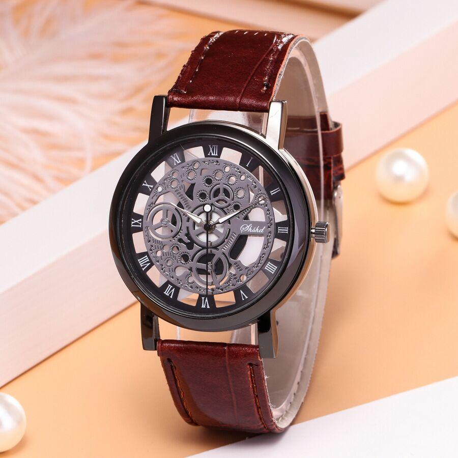 精品时尚高档镂空表身皮带手表非机械男女款情侣手表