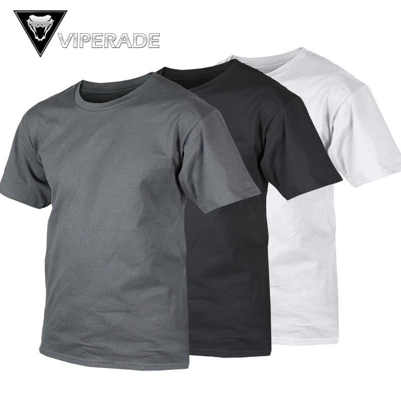 VIPERADE 军迷户外体能训练服 圆领体能服T恤男短袖棉质运动服
