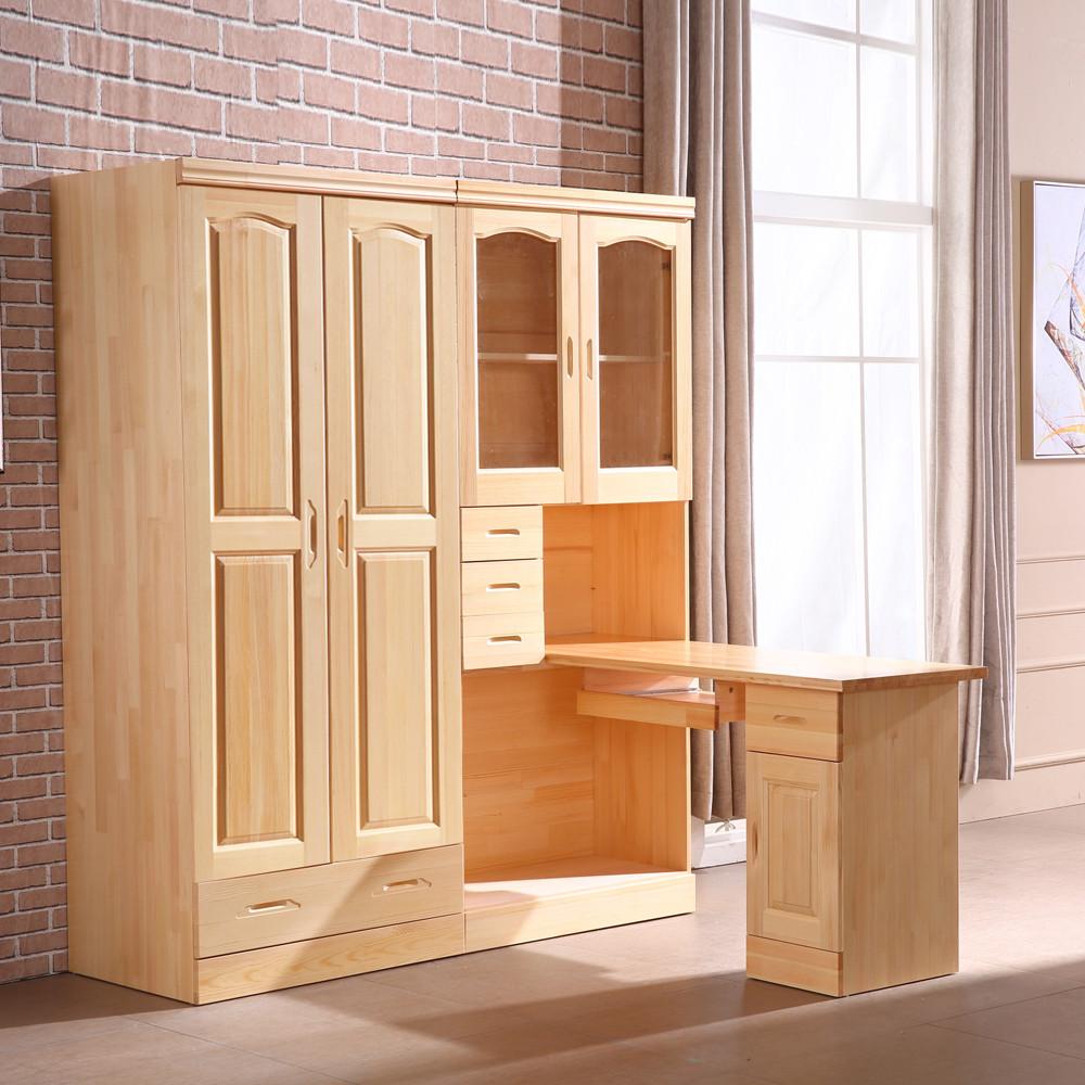 Все деревянные сосна угол книги стол угловая книжный шкаф гардероб сочетание ребенок для взрослых компьютерный стол белый запись тайвань