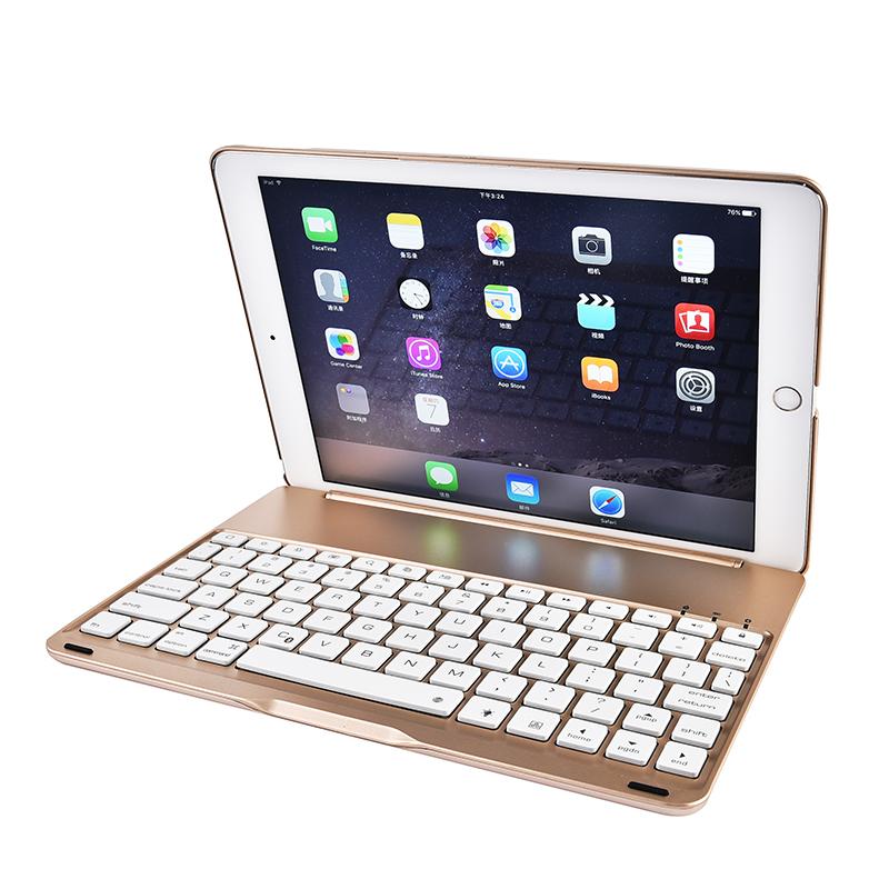 雲派 蘋果ipad air2鍵盤保護套平板電腦pro9.7寸殼帶背光藍牙超薄