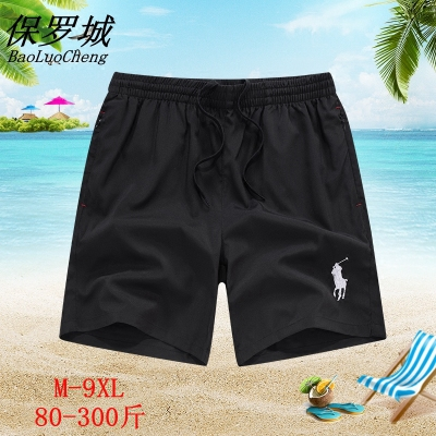 Paul city casual shorts mens summer tripe Pants Plus Size sports mens loose fast dry swimming beach pants thin