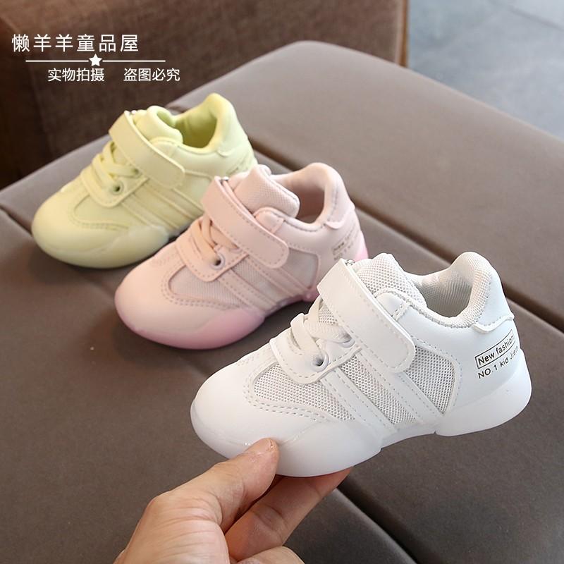 男女童网鞋2019秋季新款时尚小孩儿童运动鞋1-5岁4宝宝软底学步鞋限时抢购