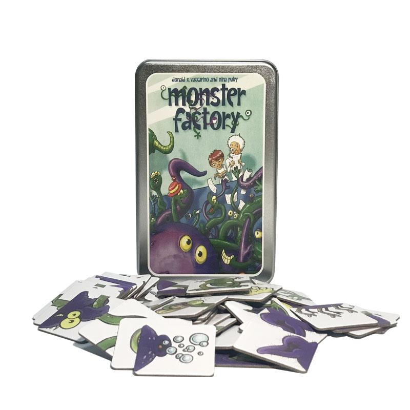 怪兽总动员儿童益智亲子桌面游戏桌游玩具怪兽工厂拼图教具H