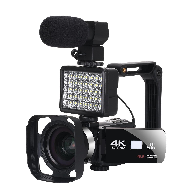 4K高清夜视数码摄像机4800万家用wifi直播摄录一体机DV数码照相机